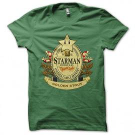 Mario cerveza camiseta verde