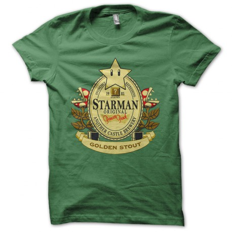 tee shirt Mario beer green