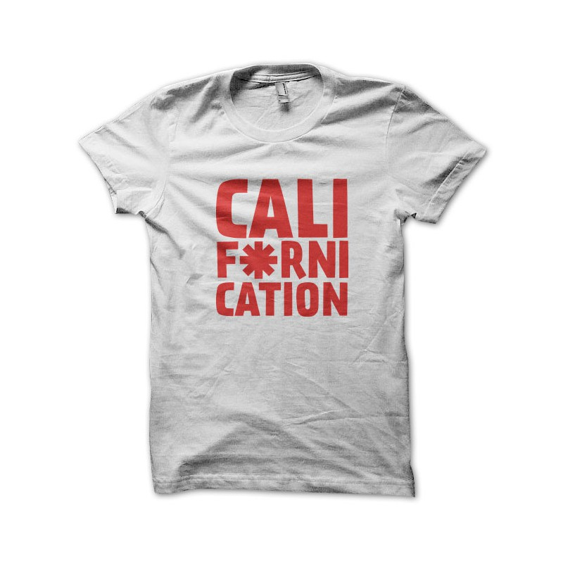Tee Shirt Californication - Red Hot Pepper White Choli a284f905916