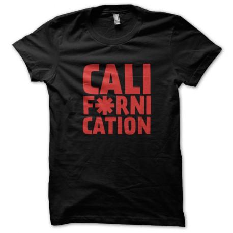 Tee Shirt Californication - Red Hot Choli Pepper NOIR