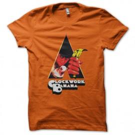 naranja del mecanismo de la camiseta del plátano