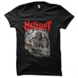 camiseta del negro de la camisa hacha