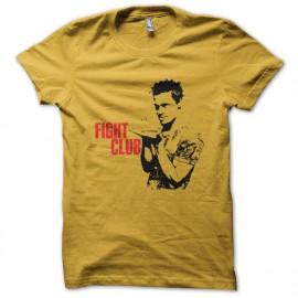 Camisa club de la lucha puesto de color amarillo