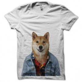 shirt menswear white dog