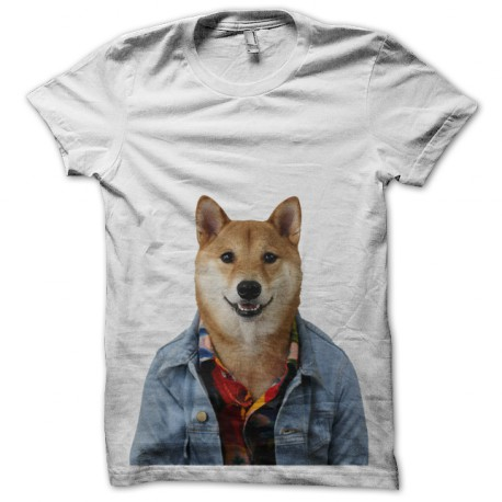 shirt menswear white dog