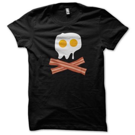 Tocino del huevo Camiseta del pirata del cráneo Negro