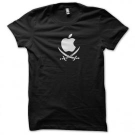 aplicación negro camiseta