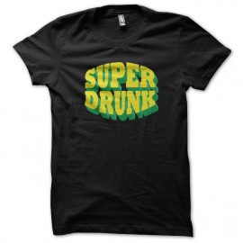 tee shirt Super drunk noir