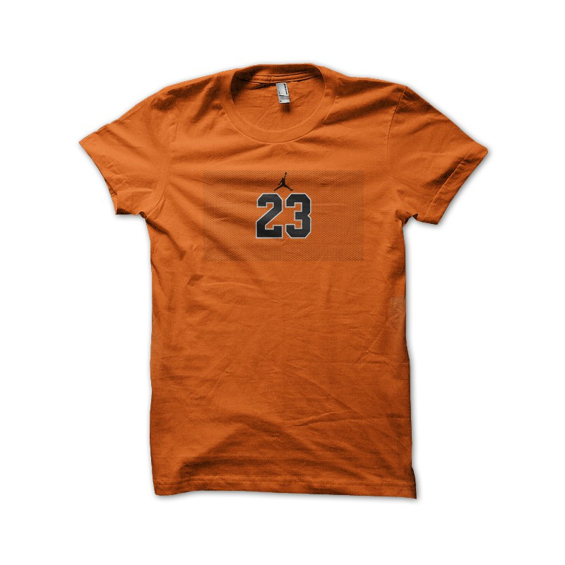 tee shirt michael jordan number 23 orange