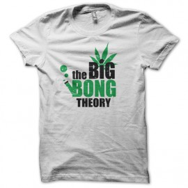 tee shirt the big bong theory blanc