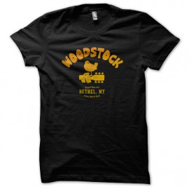 University Tee Shirt Woodstock 1969 black