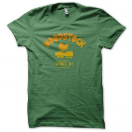 University Tee Shirt Woodstock 1969 Green