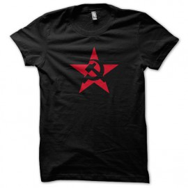 Tee Shirt URSS etoile rouge noir