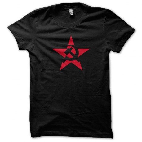 Tee Shirt USSR red star black
