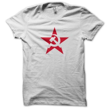 Tee Shirt Soviet Red Star White
