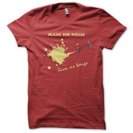 Tee Shirt Vins Blanc sur rouge, rien ne bouge
