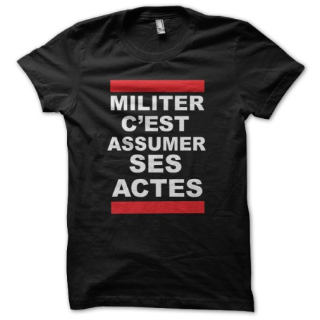 shirt militate assume his actions so dark Run Dmc