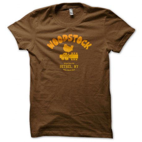 Tee Shirt University Woodstock 1969 MARRON