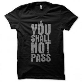 Tee Shirt LOTR Gandalf you shall not pass NOIR