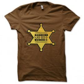 Tee Shirt Etoile de Sheriff marron