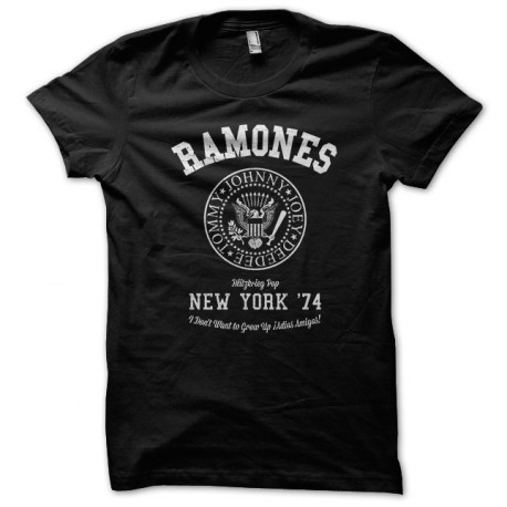 University Tee Shirt punk rock Ramones Black