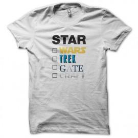 Tee Shirts Star Wars caminata caja del arte de la puerta - Blanco