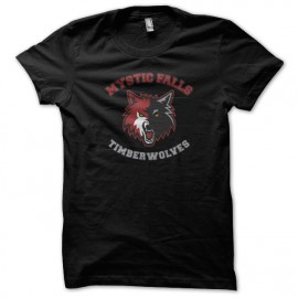 Tee Shirt Mystic Falls - Vampire Diaries - black