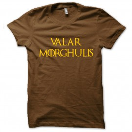 tee shirt Valar Morghulis  marron