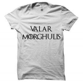 tee shirt Valar Morghulis blanc