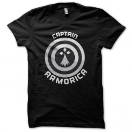 Tee Shirts Negro Capitán Armórica