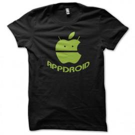 Appdroid negro camiseta