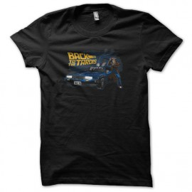 tee shirt back to the futur police box noir
