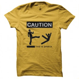 Tee Shirts Esto es Esparta 300 amarillo