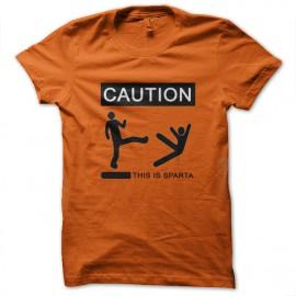 Tee Shirts Esto es Esparta 300 de naranja
