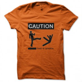 Tee Shirt This is Sparta 300 orange