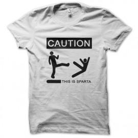 Tee Shirt This is Sparta 300 blanc