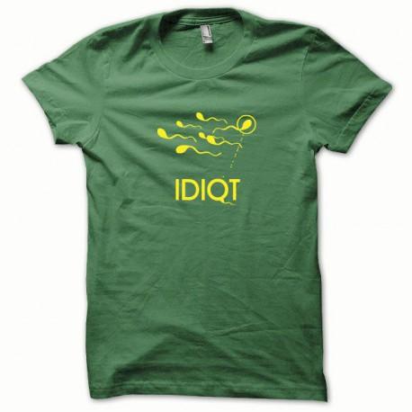 Tee shirt Spermatozoide jaune/vert bouteille