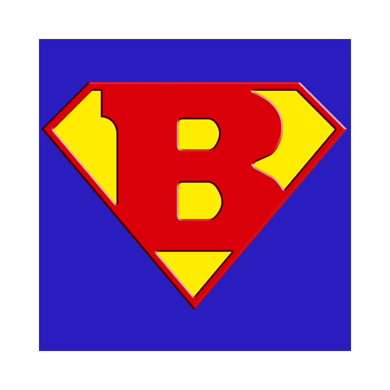 Superman logo with a royal blue B