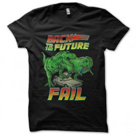 tee shirt back to the future fail noir