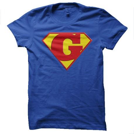* Superman logo avec un G Bleu roi