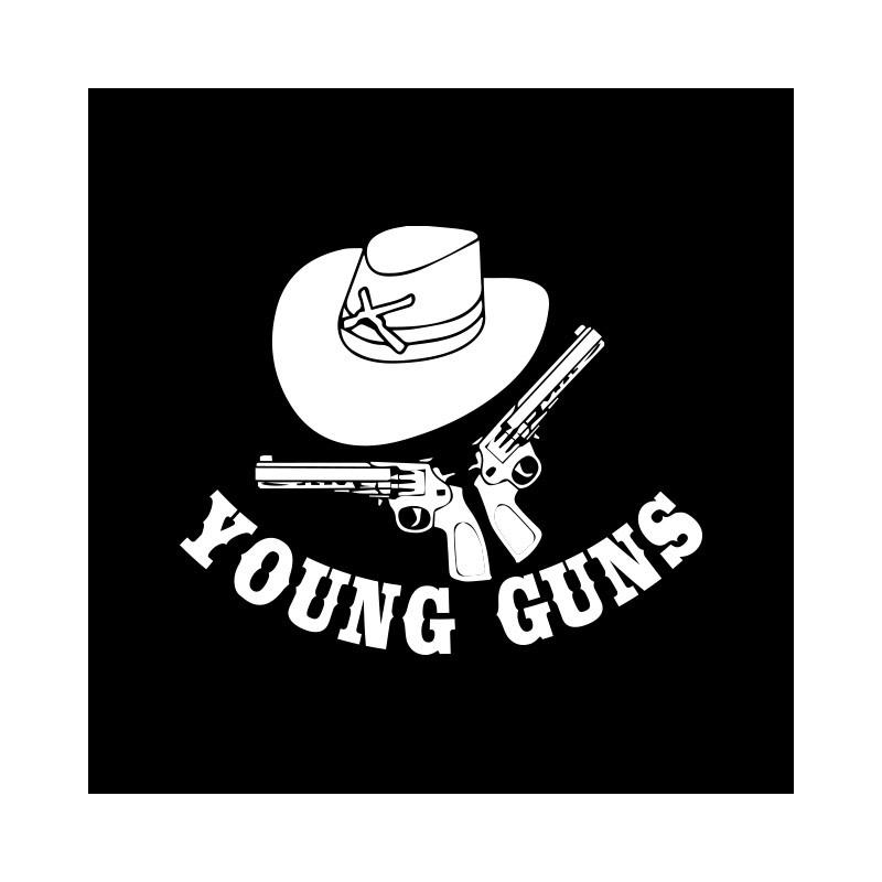 Tee shirt young guns noir for Film noir t shirts