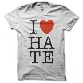 Tee Shirt Ilove HATE blanc