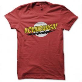 Kowabunga camisa de la parodia Bazinga roja