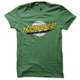 Kowabunga camisa de la parodia Bazinga verde