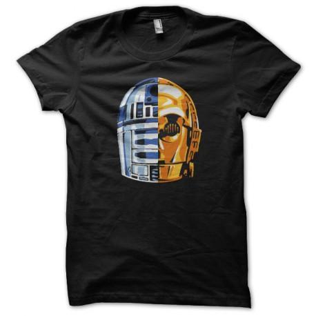 camiseta de Star Wars androide daft punk negro