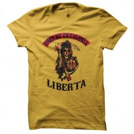 camisetas Hijos de la parodia cataluña SOA amarillo