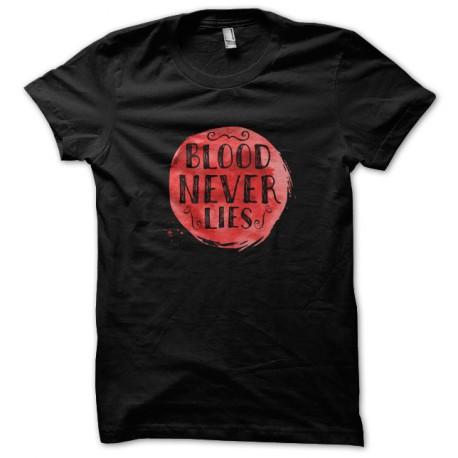 Tee Shirt Dexter - Blood Never lies - BLACK
