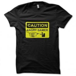 Tee Shirts Gamer enojado Negro