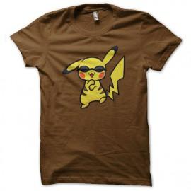 shirt Pikachu dancing gangnam style brown
