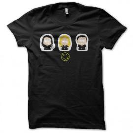 black t-shirt South Park nirvana